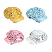 Sequin Newsboy Hats