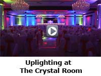 Up-lighting at The Crystal Room in Butler PA