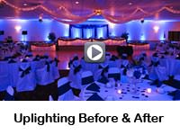 Up-lighting Before and After at SNPJ Lodge 106