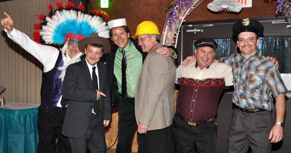 Rich Wells, Floyd Angert, Dave Weyand, Steve Tuzikow, Steve Green and Randy Burke