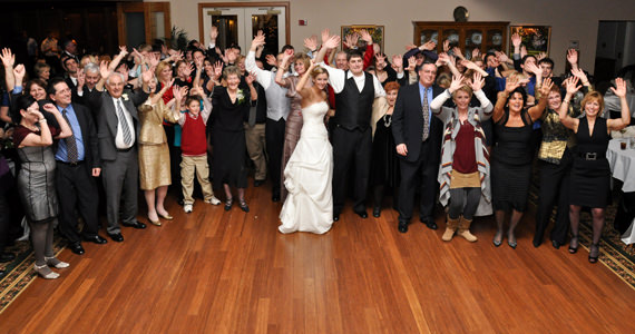 David and Kelsey Monteleone Wedding Reception at Treesdale Country Club