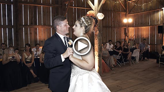 Aimee and Dan's Wedding at Five Fillies farm in New Wilmington