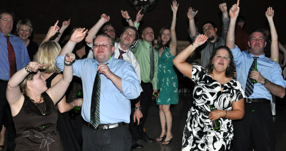 Guests dance to Livin On A Prayer