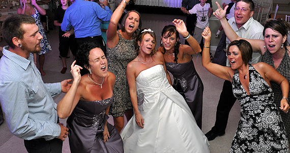 James & Julie Fry Wedding Reception at The Atrium in Prospect PA