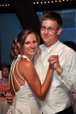 Matthew and Amanda Lucke Wedding Reception at the Springdale Veterans Hall