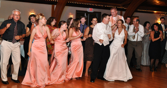 Matthew and Amanda Lucke Wedding Reception at the Springdale Veterans Hall