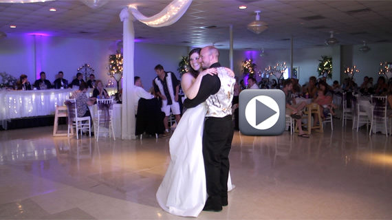 Michael and Brandy Davis Wedding Reception at The Atrium in Prospect PA