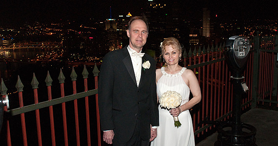 Wedding Reception at The LeMont on Mount Washington for Steve and Cheryl Zavacky
