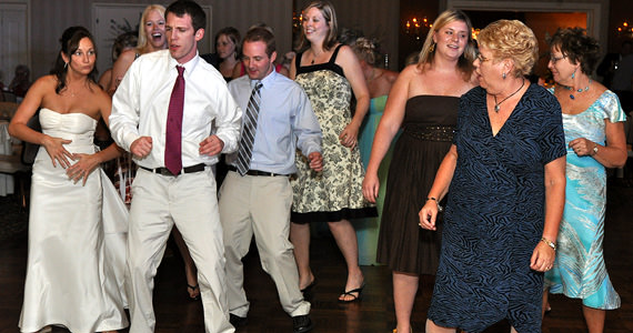 Taite and Jenn Hopwood Wedding Reception at the St. Claire Country Club
