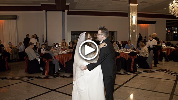 The Crystal Room in Butler - Rachel and Michael's Wedding