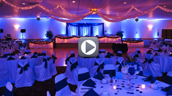 Up-lighting Transforms An Ordinary Banquet Hall Into Extraordinary